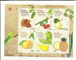 PORTUGAL FRUITS OF PORTUGAL - MNH SOUVENIR SHEET W/ 6 STAMPS - 2015
