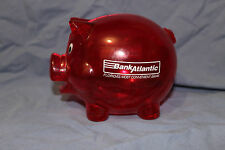 BankAtlantic Piggybank Red Plastic Florida's Most Convenient Bank 3D