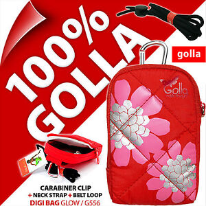 Golla Universal Compact Digital Camera Case Bag + Strap for Fuji Sony Samsung