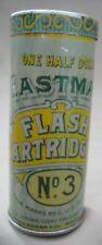 "Vintage Eastman Kodak Flash Cartridges No. 3 + 4 Cartridges ~Advertising Tin 3""T"