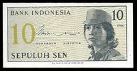 Affordable World Banknotes - Indonesia 10 Sen 1964 Prefix CGD @ Crisp UNC