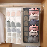 US Closet Hanging Storage Organizer Bag Bra Socks Container Pocket Pouch Gift
