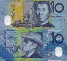1 x AUSTRALIAN $10 Dollar Bill Note  Birthday Gift, Wedding Favour. NEW MINT $$$