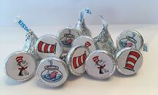 Dr Seuss/Cat In The Hat Party Favors -(324) Hershey Kiss Stickers