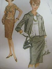 Vintage 60's McCall's 6682 BACK-BUTTONED BLOUSE SUIT JACKET Sewing Pattern Women