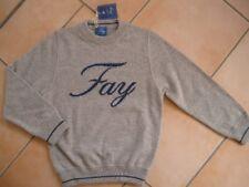 (238) FAY Girls Rundhals Pullover 100% Wolle mit Logo Druck auf der Brust gr.104
