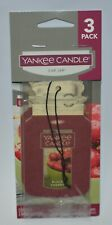 3 YANKEE CANDLE BLACK CHERRY CLASSIC CAR JAR AIR FRESHENER CLOSET HANGING LOT