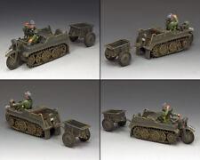 KING & COUNTRY WW2 GERMAN ARMY WH023 SD.KFZ 2 KETTENKRAD & TRAILER MIB