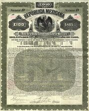 México – Republica Mexicana, 5% Bond, 100 libras, 1899!