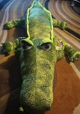 """Green Alligator / Crocodile 50"""" Giant Plush by Toy Factory. Quick USA Shipping"""