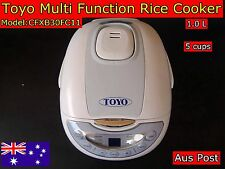 TOYO Fuzzy Logic Multi Functions Rice Cooker with Keep Warm 5 Cups CFXB-30 FC11