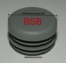 """10 Stk. runde Lamellenstopfen 27 mm für WS 1,0-2,4mm grau (3/4"""") Rohrkappen"""