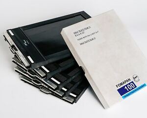 Fidelity Half Plate Film Holders x6 - 50 Sheets of Fomapan 100 Film.