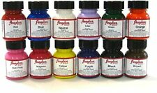Angelus Brand Leather Paints Basic Colours Starter Set (A) - 12 Pack (1oz)