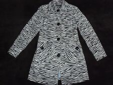 ❤❤  RIVER ISLAND...White & Black  ZEBRA /  ANIMAL  PRINT  JACKET  COAT  8  ❤❤