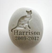Cat Pet Memorial Custom Engraved Memorial Stone Pet Loss Personalised Kitty