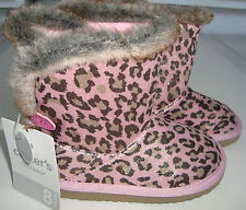 Toddler Girl Boot 8 Carters Fayette Sparkly Pink & Gold Leopard Boot Fur Trim