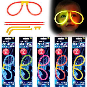 GLOW STICK GLASSES GLOW IN DARK TOY PARTY BAG CHRISTMAS STOCKING FILLERS
