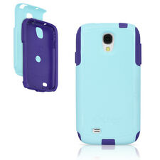 OtterBox Commuter Galaxy S4 Case Lily Aqua Blue / Purple Cover OEM Original