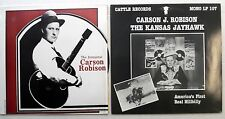 CARSON ROBINSON lot of 2 LPs Country Hillbilly