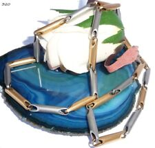 Collier Kette Halskette Gliederkette - 950 Platin 750 Gold Gelbgold - 320