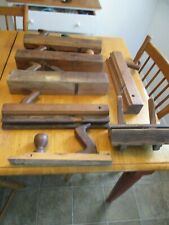 LOT OF VINTAGE WOOD BLOCK PLANES & PARTS Woodworking Tools 7 total