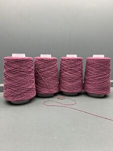 625G 4/20NM 95% LAMBSWOOL 5% CASHMERE YARN DARK LAVENDER MADE IN THE UK ONE OFFF
