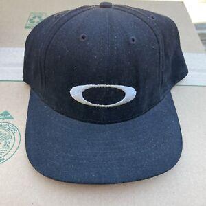 vtg oakley sunglasses snapback hat cap 90s usa made black