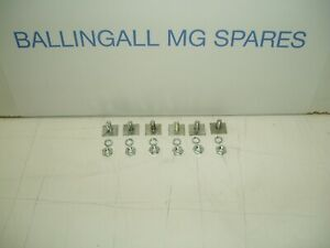 326-075 AHH6360 MG MGB MOULD PLATE WITH NUTS AND SPRING WASHERS
