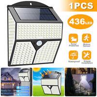 Waterproof LED PIR Motion Sensor Solar Power Outdoor Garden Lamp Yard Wall Light