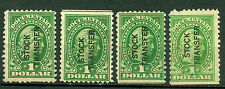 Us 1928-32, Documentary Stamps, Overprinted Stock Transfer, Rd30&Rd30b,Mng 3224