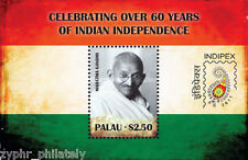 "Palau - ""MAHATMA GANDHI ~ 60 YRS OF INDIAN INDEPENDENCE ~ INDIPEX 2011"" MNH MS !"