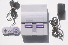 Nintendo SNES US NTSC 1-CHIP 1CHIP w/ Digital Audio Mod, Controller + AC Adapter