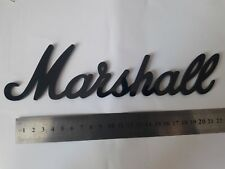 Logo Marshall black color super gloss plastic 9 1/2'' = 240mm