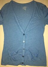 Old Navy Women's Knit Cardigan, Long Length, Ocean Blue, Size Small