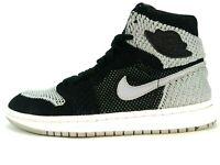 Nike Air Jordan Retro 1 High FlyKnit Shadow 919702-003 Gray Black Size 7Y