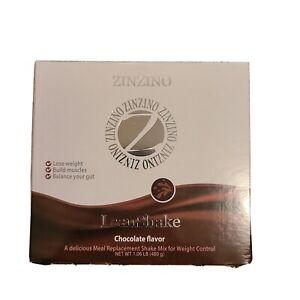 ZINZINO Vegan LeanShake Chocolate Flavor 16 Meal Replacement Packs EXP 10/21