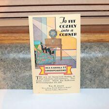 RCA Radiola 44 Radio Loudspeaker 103 Postcard - Unused - Browns Valley MN