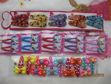 Único 30 Disney Mickey Minnie Hello Kitty arco fuerte Hairclips hairslides Clips