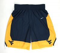 New Nike Men's L West Virginia Mountaineers Posterize Game Shorts Blue 802306