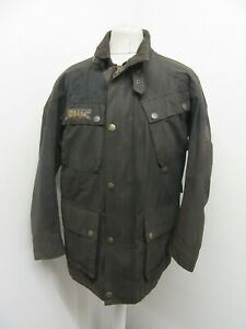 VINTAGE 80'S BELSTAFF TRIALMASTER WAXED COTTON MOTORCYCLE JACKET SIZE L UK MADE
