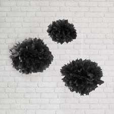 Papier Tissu Pompons Fleur Boules Moelleux Fête de Mariage Décoration-Pack de 15