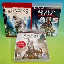 Assassin's Creed 1 + III + Revelations - Sony PlayStation 3 PS3 3 Games Complete