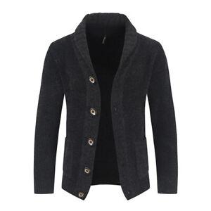 Mens Knitted Sweater Warm Long Sleeve Pullover Winter Cardigan Sweatshirt