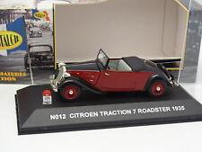 Nostalgie 1/43 - Citroen Traction 7 Roadster Noire et Rouge