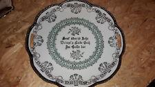 Teller Zierteller Spruchteller - z.B für Silberne Hochzeit - Porzellan / silber