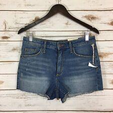 NWT Universal Thread Women/'s Plus Size Midi Denim Jean Shorts Black