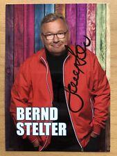 Bernd Stelter AK Hurra, ab Montag ist wieder.. Autogrammkarte original signiert