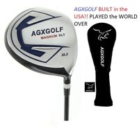 AGXGOLF Men's 460 Senior Flex Graphite 10.5 or 12 Degree Driver Right Hand+Cover