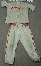 """Vintage Wool US Marines Baseball Uniform Felt Lettering """"Size 40"""""""